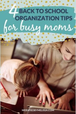 Back to School Organization for Busy Moms